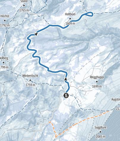 Carte / Lombachalp - Piste de ski de fond
