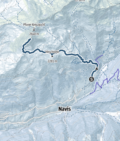 Karte / Mislkopf 2623m über Mislböden