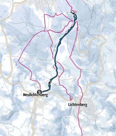 Karte / Lichtenberg 927m, Direttissima von Neulichtenberg