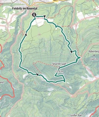 Karte / Sinacher Gupf-Runde
