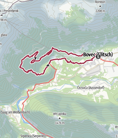 Map / Gozdec, a trip into the cool forests of Mt. Kanin