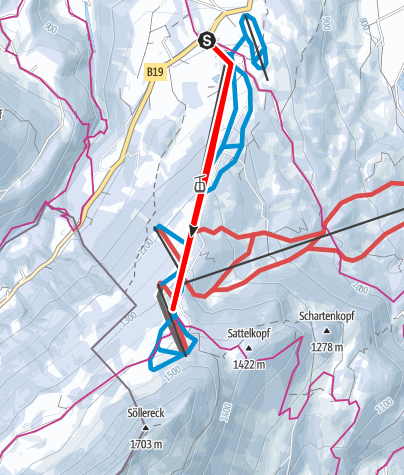 Karte / Tourengeher-Stammtisch Söllereck