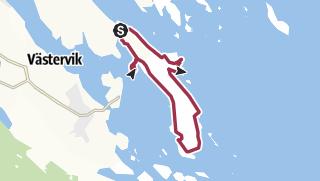 Karte / Wanderweg Gränsöleden Västervik