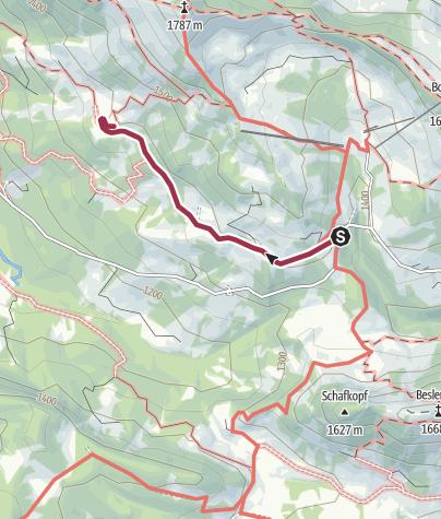 Karte / Wanderweg zur Mittelalpe