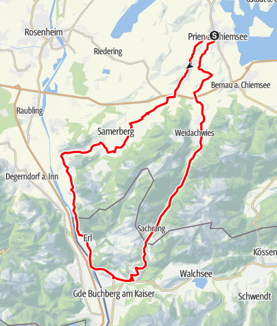Karte / Kurze Tour über Frasdorf und Niederndorf