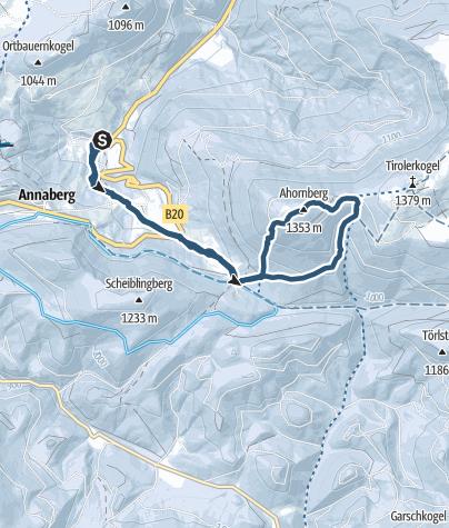 Karte / Ahornberg vom Parkplatz Pfarrbodenlift