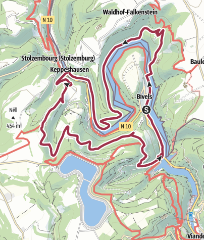 Karte / NaturWanderPark delux: Nat'Our Route 4 - Ourtalschleife (L-Bivels)