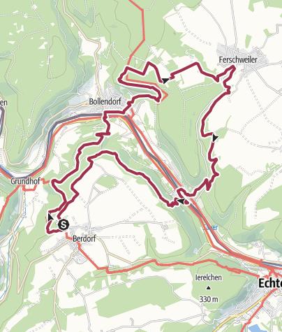 Karte / NaturWanderPark delux: Felsenweg 3 (D-Ferschweiler/L-Berdorf)