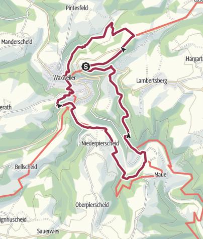 Karte / NaturWanderPark delux: Devon-Pfad (Waxweiler)