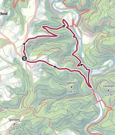 Karte / NaturWanderPark delux: Prümtalweg bei Philippsweiler