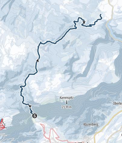 Karte / Hochmühleck 1.731 m / Abfahrt über die Fahrnrinnalm nach Bad Mitterndorf