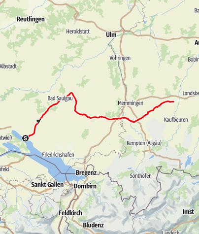 Map / Schwäbische Bäderstraße