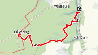 """Karte der Tour 7. Wanderroute """"Flößerpfad"""""""