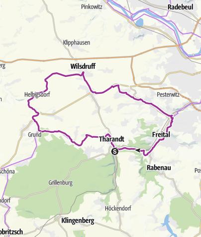 Karte / 1. Radroute auf dem ehemaligen Schmalspurnetz
