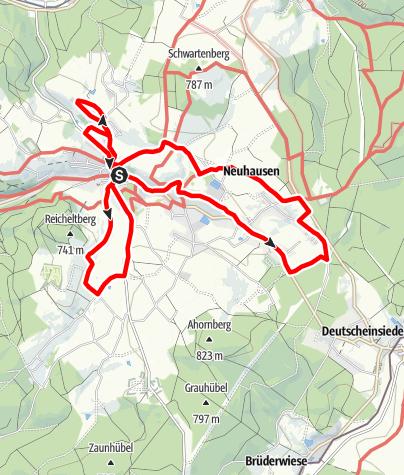 """Karte / Erlebnispfad """"Historisches Seiffen"""""""