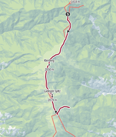 Karte / Saualpe: Klippitztörl - Ladingerspitz - Offnerhütte