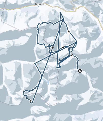 Karte / Skitour Dauphine
