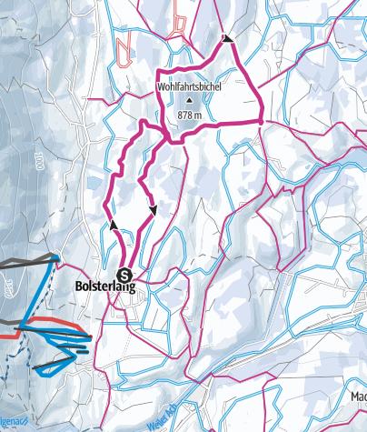 Map / Winterwanderweg Sonnenplateau zwischen Bolsterlang und Ofterschwang