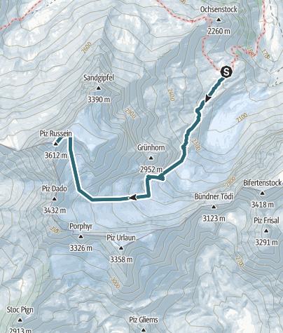 Karte / Tödi 3611m