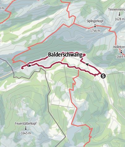 Karte / Rundwanderung Bolgenach- und Zeitweg