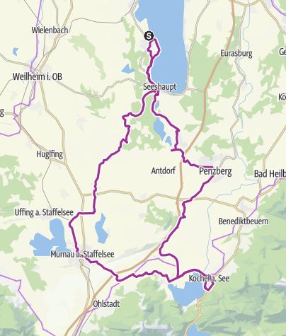 Karte / Auf den Spuren des Blauen Reiters