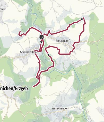 Karte / Wanderung durch den Verwaltungsverband - Verwaltungsverband Wildenstein (Grenzenlos. Wildromantische Naturerlebnisse)