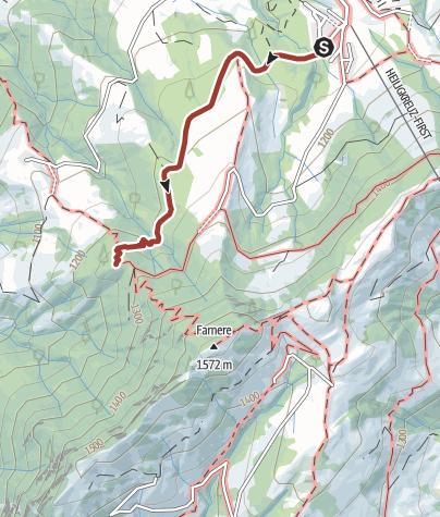 Karte / Schutzwaldpfad Heiligkreuz