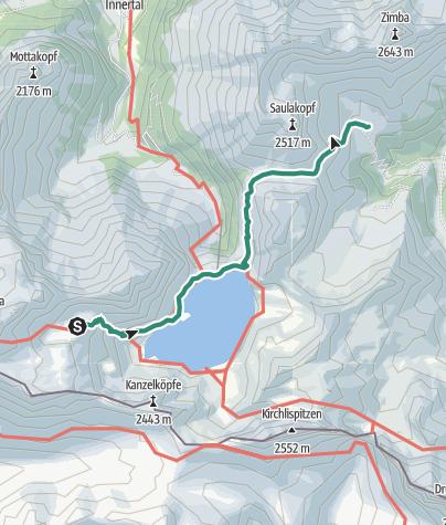 Karte / Übergang von der Totalphütte zur Heinrich-Hueter-Hütte (Saulasteig)