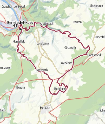 Karte / 24h-Wanderung 2019 Tagschleife