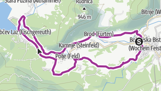 From Bohinjska Bistrica over the Dobrava Meadows to Lake Bohinj and Back