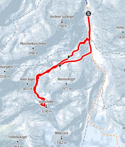 Map / Kuhscheibe - Längenfeld/Gries