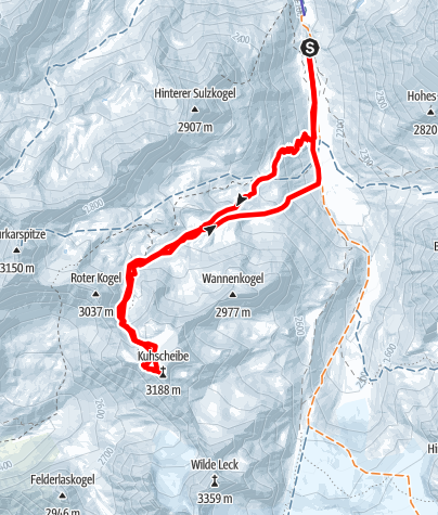 Karte / Kuhscheibe - Längenfeld/Gries