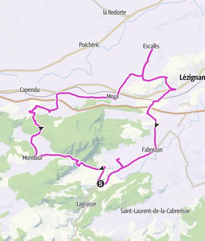 Cartina / La route de l'Alaric (Est) : les vins frais