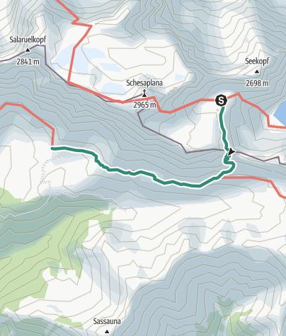Map / Übergang von der Totalphütte zur Schesaplanahütte (Gamsluggen)