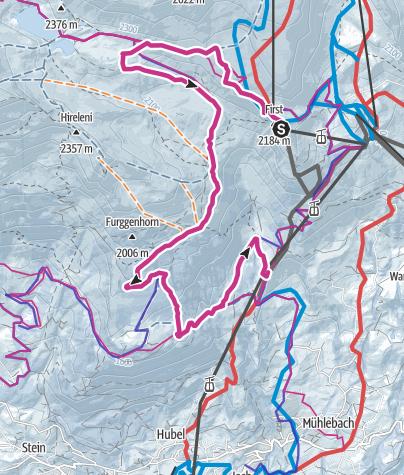 Karte / Von First über Waldspitz nach Bort