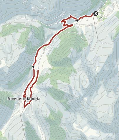 Karte / Diemtigtaler Hausweg «Hinteres Tal»