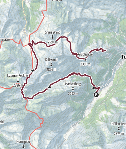 Karte / Bergseen und ein Aussichtsgipfel der Extraklasse - Geier