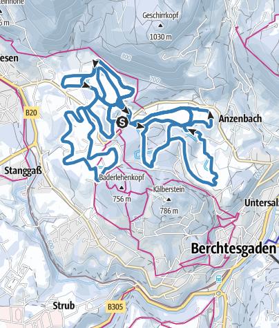 Karte / Langlaufzentrum Aschauerweiher Bischofswiesen