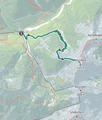 Map / Mountain tour – Kreuzspitze