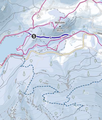 Karte / Rodelbahn Hintersee Ramsau