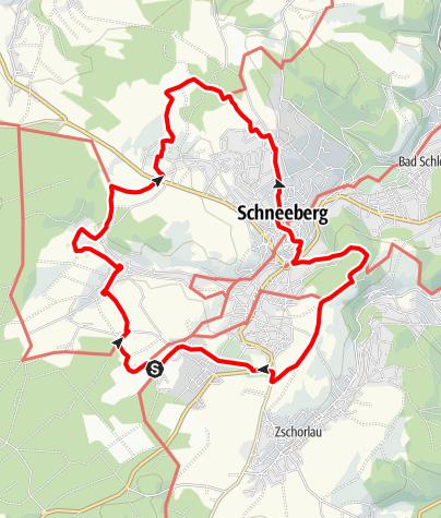 Karte / Panorama-Wanderweg Schneeberg