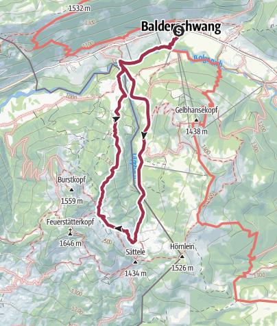 Map / Rundwanderung zur Burglhütte