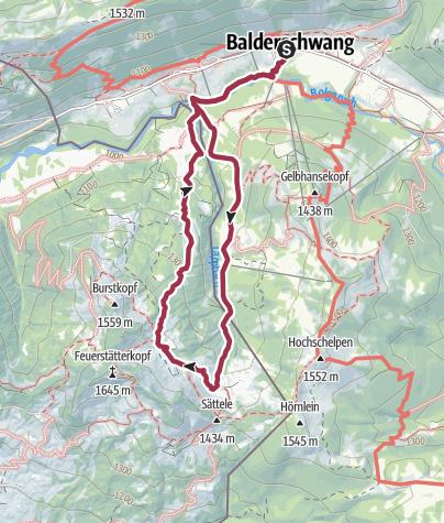 Karte / Rundwanderung zur Burglhütte