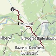 מפה / S01 Benediktweg: St. Paul - Dravograd