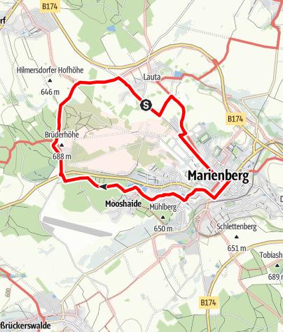 Karte / Bergbaugeschichte erwandern (Marienberg)