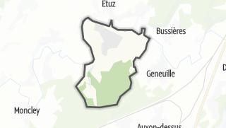 Térkép / Cussey-sur-l'Ognon