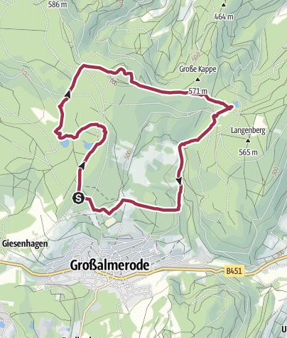 Karte / Premiumweg P14 Bilstein