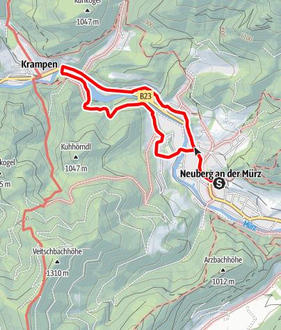 Karte / Schauberger Triftanlage Rundweg im Naturpark Mürzer Oberland