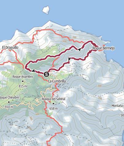 Map / Loop walk from Chamorga