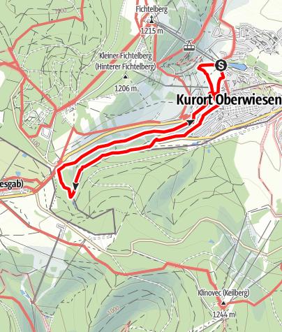 Karte / Tatjana-Hüfner-Tour (Oberwiesenthal)